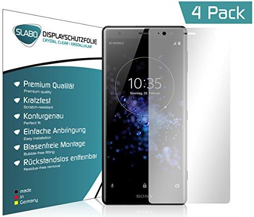 Slabo 4 x Pellicola Protettiva per Display per Sony Xperia XZ2 Protezione Display Crystal Clear