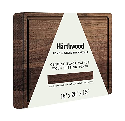 """Härthwood Walnut Wood Cutting Board with Juice Groove(18""""x26""""x1.5"""") 