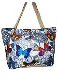 Einkaufstasche, Leinen, Strandtasche XXL 60x40x20cm Shopper Reisetasche Yoga Mandala Tasche...