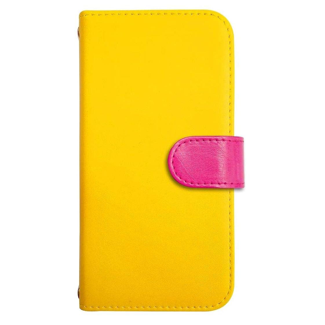 状況制約昼寝sslink iPod touch6 アイポッドタッチ6 ケース 手帳型 スマホケース 丸型 ラウンド(ローズ) ベルト きせかえ belty おしゃれ (カバー色イエロー) ダイアリータイプ 横開き カード収納 フリップ カバー スマートフォン