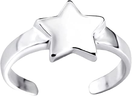 07344f55a So Chic Jewels - 925 Sterling Silver Star Toe Ring Adjustable