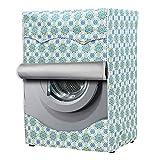 Coprilavatrice per Esterni per Le lavatrici con Aperture Anteriori Impermeabile Anti-Spruzzi e Anti Sunlight Lavatrice Copertura (Blue, M)
