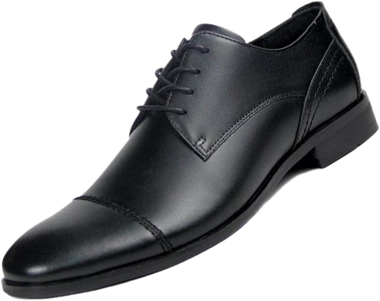Black Derby Pointed Business Men's Leather shoes Soft Leather Gentleman England Wedding shoes