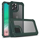 Manleno Compatible with iPhone 12 Pro Max Case Rugged Phone Case Heavy Duty Hybrid Protective Case Shockproof Military Grade Drop Proof Cover for iPhone 12 Pro Max 6.7' (Green)