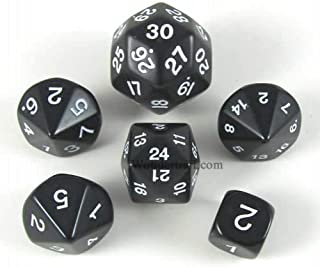 Koplow Games Black Special Who Knew 6 Dice Set