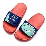Chanclas de playa Zapatos de Piscina para Niña Niño Sandalias Verano Antideslizante Zapatillas de Baño Casa Hombre Mujer Rojo 22/23 EU