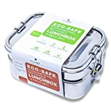 Ecozoi LEAK PROOF Stainless Steel 3-in-1 Eco Lunch Box Bento Boxes | REDESIGNED Silicone Seal + BONUS Lunch Pod |...