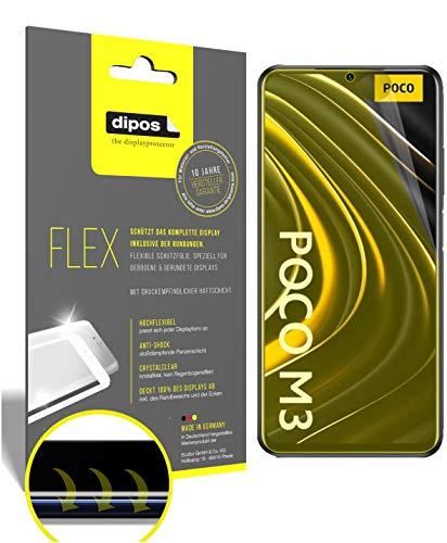 dipos I 2X Protector de Pantalla Compatible con Poco M3 - Cobertura 100% para Pantalla I 3D Full Cover láminas Protectoras