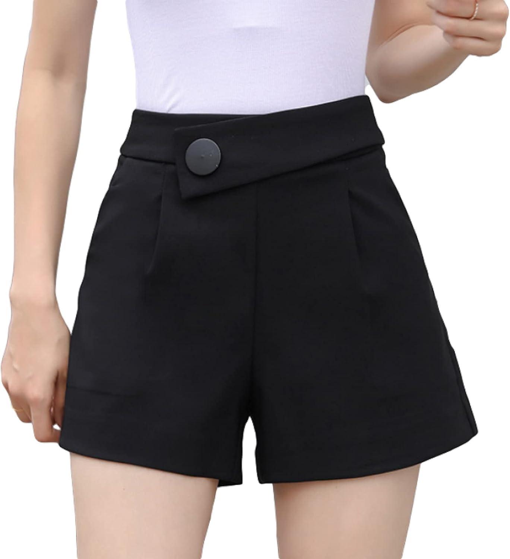 Corumly Over item handling Ladies Shorts Summer High Button Waist Slim Wide- Max 53% OFF Design