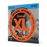 D'Addario Electric Regular {Light Gauge10/46 BRIGHT TONE ROUND WOUND} Guitar Strings (Bronze)