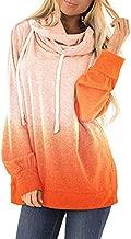 Kulywon Womens Casual Hooded Tie Dyes Print Sweatshirt Loose Drawstring Pullover Hoodies