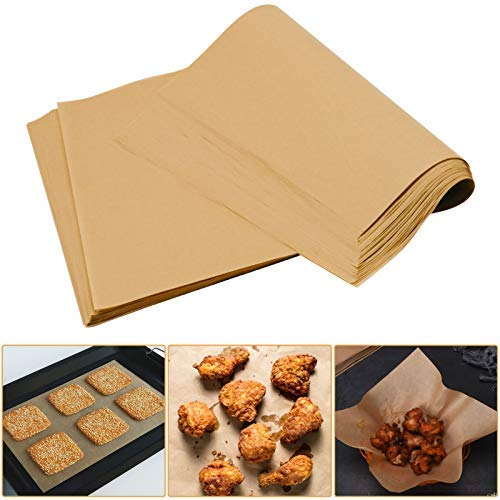 Parchment Paper for Baking, 200PCS Parchment Paper Sheets 12 x 16 Inch Precut Non-Stick Unbleached Baking Paper for Grilling Air Fryer Steaming Bread Cup Cake Cookie…