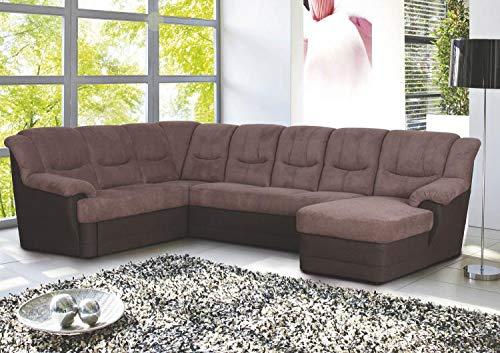 RASANTI Wohnlandschaft inkl. Schlaffunktion + Bettkasten + Relaxfunktion Orion von Matex Braun