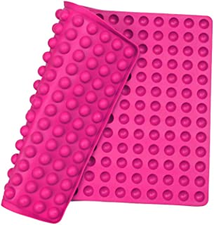 Silicone Baking Mat Cooking Sheets,Baking Molds,For Pets Non-stick, Fat Reducing Mats for Healthy Cooking,1115.5 In. (Rose red-0.6in)