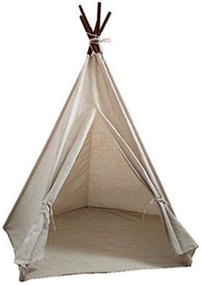 Adan Kids Foldable Play Bargain supreme sale Tent for C Natural Indoor Outdoor Cotton