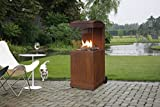 FABER Gas Außenkamin The Buzz in cortenstahl