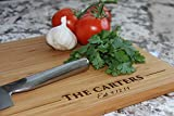 Personalized Wood Cutting Boards (Carter Design) - Perfect Gifts For Weddings, Bridal Showers, and...