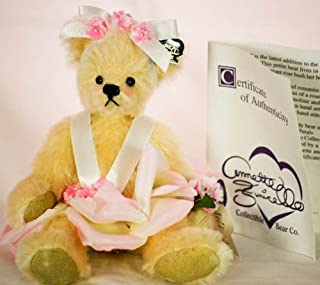 Annette Funicello Bear Co - Rosey Petals 9 Inch Mohair Bear - Bear Buds Collection - w/ Logo Pin / Hand Numbered COA - Clothed in Silken Petals & Romantic Ribbons - Out of Production - New - Limited Edition - Collectible