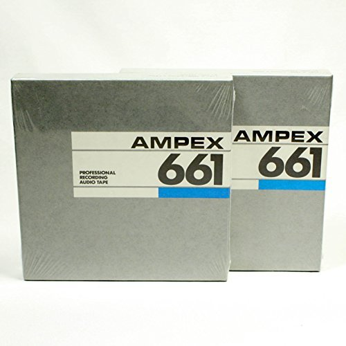 Ampex 661 5 inch reel to reel tape - 1/4 x 1800 - Pack of 2 tapes