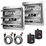 iPower 12 Inch Variable Shutter Exhaust Fan Aluminum with Speed Controller and Power Cord Kit, 1620RPM, 1600 CFM,...