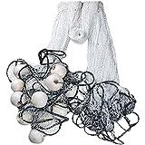 CINGHI LUSSO Fishing Drag Net Nylon Hand Made Durable Fish Pond Fishing netTrawl Fishing Gill Nets Beach Seine Drag Nets Fishing Equipment,3cm Mesh, 2m - 5m High, 10m Length
