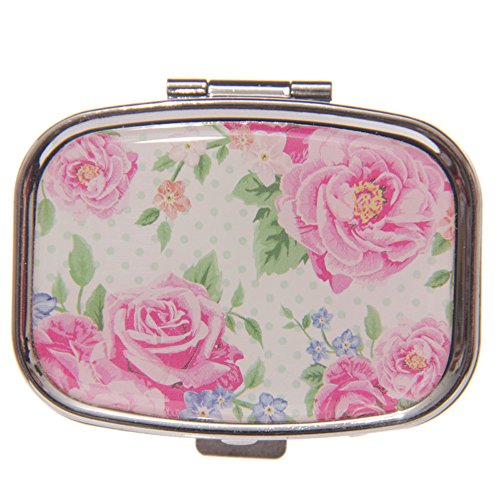 TRADITIONAL ROSES DESIGN TWO SECTION PILL BOX by Fish Around