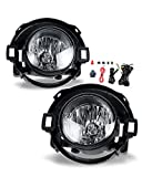 Fog Lights for 2010-2017 Nissan Frontier/ 2005-2015 Nissan Xterra (both Only fit for plastic bumper) with Bulbs H11 12V 55W AUTOFREE Fog Lamps assembly Included Wiring Kit & Switch-1 Pair (Clear Lens)