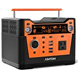 AIMTOM 300-Watt Portable Power Station - 280Wh Battery Powered Generator Alternative with 12V, 24V,...