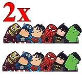 Winlauyet 2X Superhelden Sticker Laptop Auto Kühlschrankaufkleber Kofferraum Aufkleber Marvels...