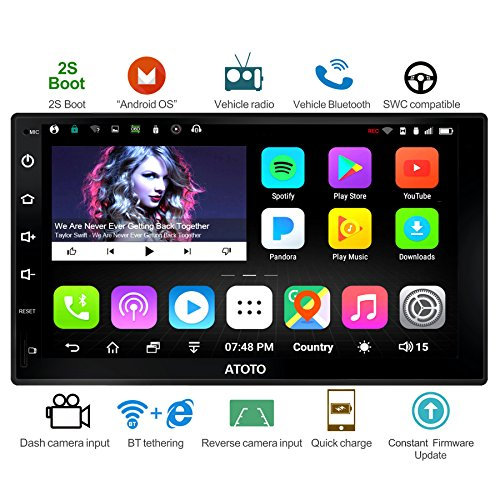 New ATOTO A6 Android Car Navigation Stereo - 2X Bluetooth & Quick Charge - Premium A6Y2721P 2G/32G U...