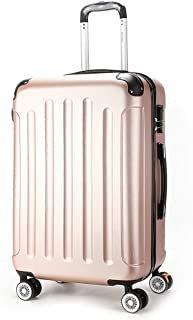 TYUIO Carry On Luggage, Travel Bag Trolley Suitcase w/Spinner Wheels Lightweight and Durable Luggage for Travel, Business (Color : Pink, Size : 24 inches)