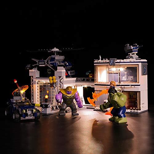 Led Beleuchtungsset Für Lego Marvel Super Heroes Avengers-Hauptquartier, Kompatibel Mit Lego 76131 Bausteinen...
