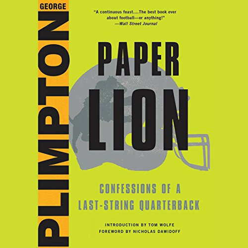 Paper Lion audiobook cover art