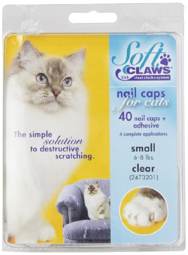 Feline Soft Claws Cat Nail Caps Take-Home Kit, Small, Clear
