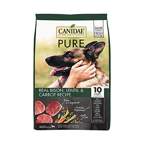 Canidae PURE Grain Free, Limited Ingredient Dry Dog Food, Bison, Lentil and Carrot, 21lbs