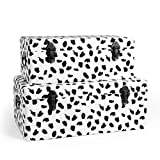 <span class='highlight'>Beautify</span> Storage <span class='highlight'>Trunk</span>s <span class='highlight'>Set</span> of 2 Black & White Velvet Storage Chests with Black Hardware, Ottoman For Bedroom, Living Room, Dressing Room, Hallway - Polka-Dot Dalmation Print