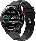 Voigoo Smart Watch for Android and iOS Phones, Fitness Watches for Men and Women with Continous Heart Rate Monitor, Activity Tracker with 3ATM Waterproof,1.3' Touch Screen Compatible iPhone Samsung