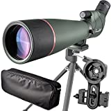 Best Spotting Scopes - 20-60X 80 Prism Spotting Scope- Waterproof Scope Review