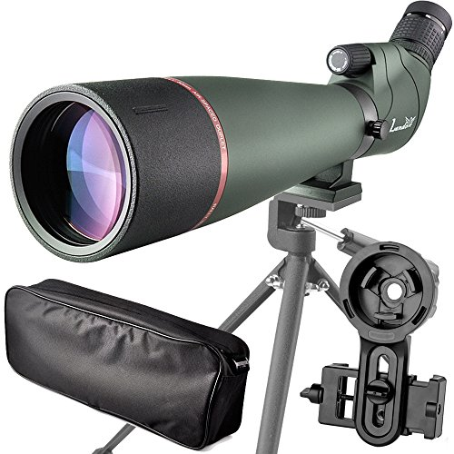 LANDOVE 20-60X80 BAK4 Prism Spotting Scope-Waterproof Field Scope for Birdwatching Target Shooting Archery Hunting-with Tripod Carrying Bag & Digiscoping Adapter-Grab the Beauty into Screen