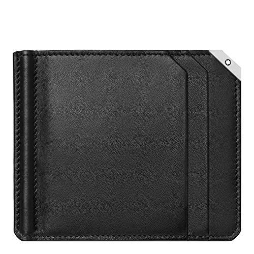 Montblanc Money Clip - Cartera (6 CC, tamaño Grande), Color Negro