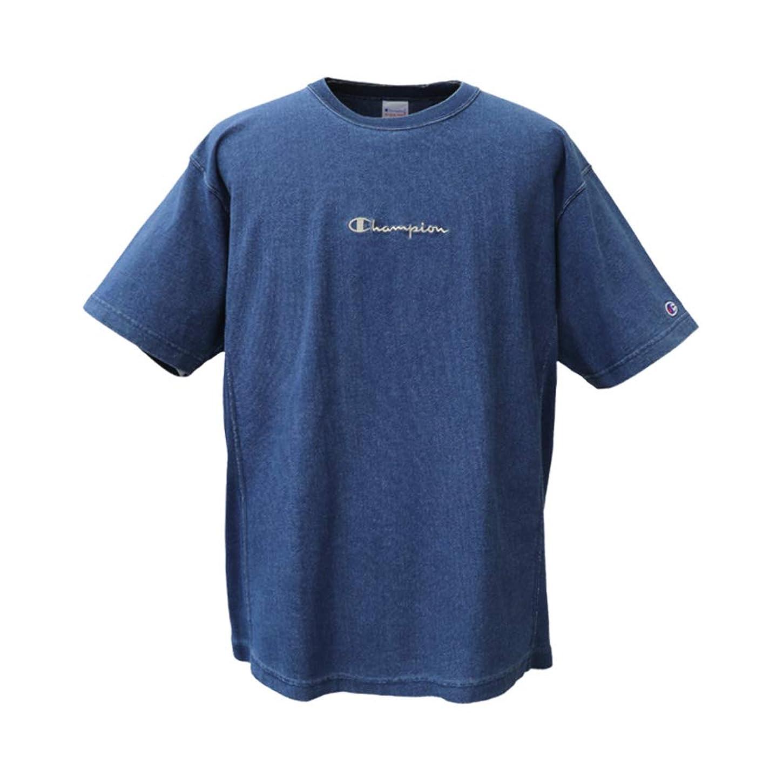 傷跡フリル豊かなチャンピオン Tシャツ メンズ 夏用 Champion 半袖 デニム調 C3P319 REVERSE WEAVE リバースウィーブ