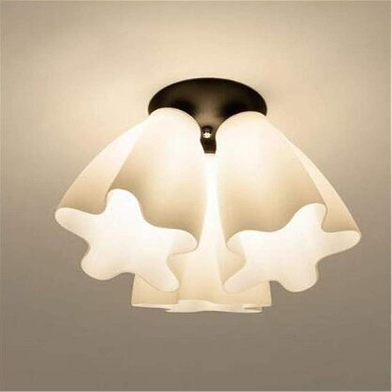 HBLJ Lamp Chandelier Modern Simple Iron Glass, 1616 Drei Decken [Energieklasse A +++]
