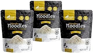 Zero Calorie Wonder Noodles - Rice | 3 Pack | Kosher, Vegan-Friendly, Carb-Free Noodles | No Sugar, No Fat | Ready to Eat Gluten Free Pasta Diet Food | (42oz)