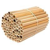 Super Idee Reet pour la Construction à Insectes - 100 pièces - 20 cm de Long - Intérieur Lisse et imperméable - pour la Construction d'insectes, la Maison à Insectes - Hôtel d'abeille