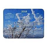 AoLismini Alfombra de baño 2018 Calendario Calendario...