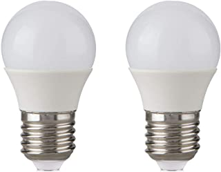3W LED Light Bulb Warm White - 25w Incandescent Equivalent, E26 Medium Base - Energy Saving Bulb for Bathroom, Vanity, Ceiling Fan, Porch, Bedside, Kitchen, Dinning, Wall, Table, Floor Lamp (2 Pack)
