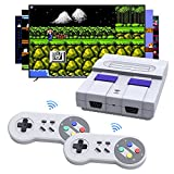 Wireless Mini Retro Game Console, HDMI HD Built-in 1080p Classic Retro Games with 2 SNES Classic Wireless Controller, Mini Preloaded Game Console Video Game for Family TV Childhood Memory Game