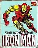 Desperate Enterprises Marvel Comics Iron Man Retro Tin Sign, 12.5' W x 16' H