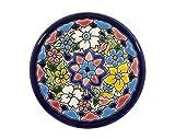 Platos Decorativos para Pared, Pintados a Mano con la técnica de la Cuerda Seca. Cerámica Andaluza. 9 CM.50903
