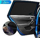 DIZA100 Auto Sonnenschutz für Kinder Baby Erwachsene Haustiere, 2 Stück Universal Sonnenblende Auto Netz mit UV Schutz/Blendschutz, Autofenster Sonnenschutzrollos Heckscheibe